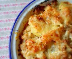 Potato, Cauliflower and Cheddar Bake