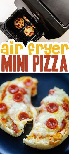 English Muffin Breakfast, English Muffin Pizza, English Muffins, Pizza Recipes, Low Carb Recipes, Cooking Recipes, I Want Pizza, Pizza Muffins, Air Frier Recipes