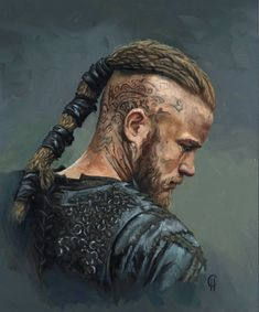Portrait of Ragnar from Vikings. Personal work for painting practice oils on board inches cropped from Rollo Lothbrok, Ragnar Lothbrok Vikings, Bjorn Lothbrok, Lagertha, Arm Tattoo Viking, Viking Wallpaper, Viking Series, Vikings Tv Show, Viking Hair
