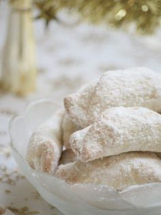 Hungarian Christmas Walnut Cookies (Hókifli) have a sweet, nutty filling inside a flakey, rich pastry! Heavily sprinkled with icing sugar mixed with vanilla flavored sugar. While they are traditionally made at Christmastime, they are outstanding any time of year! A perfect Christmas dessert,