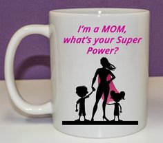15oz Coffee Mug, Single Side Print - I'm A Mom by JMSCustomizations on Etsy
