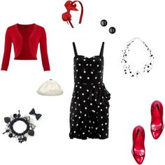 Black, White, and Red All Over, created by #rachael-phillips on #polyvore.