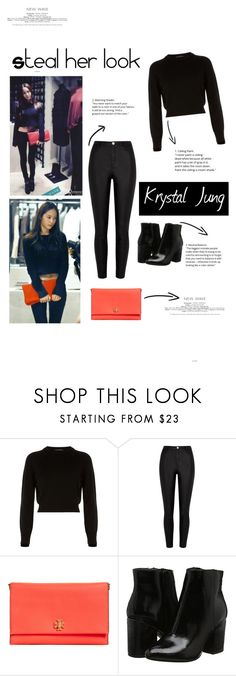 """""""Inspired by Krystal Jung"""" by quinnfira ❤ liked on Polyvore featuring Krystal, Helmut Lang and Tory Burch"""