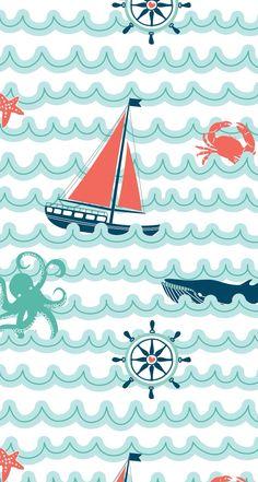Nautical sailboat iphone wallpaper