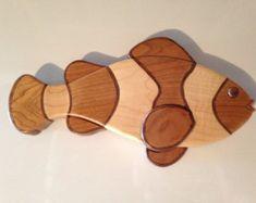 Wood Intarsia Angelfish by TSladeWoodCreations on Etsy