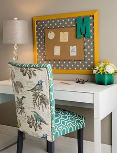 Recover A Thrift Store Find Chair For Your Dorm Desk To Replace The
