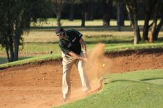 Bunker shot on the 18th at Zwartkop Country Club