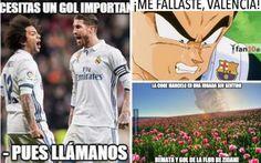 Una vez más el Real Madrid ganó un partido en los últimos minutos, fue contra el Valencia en la Liga Española y los memes no han tardado en salir. Estos son los mejores.