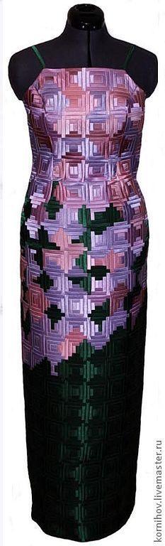 """Купить Лоскутное платье пэчворк """"Сирень"""" - пэчворк, лоскутное шитье, вечернее платье, авторское платье"""
