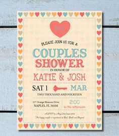 Vintage Wedding Shower Couples Shower by twinklelittleparty, $15.50