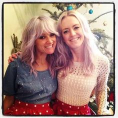 Lou Teasdale with Tom's sister, Caroline. xx