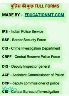 Gk Knowledge In English - Full form of all type of defense govt departments in India and world wide General Knowledge Book, Gk Knowledge, Knowledge Quotes, Gernal Knowledge In Hindi, English Vocabulary Words, Learn English Words, Gk Questions And Answers, Sms Language, English Learning Spoken