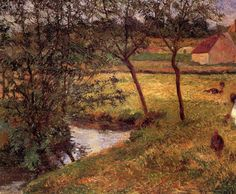 In the forest Saint Cloud - Paul Gauguin - WikiArt.org