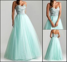 Sweetheart Tulle A Line Prom Evening Ball Gowns