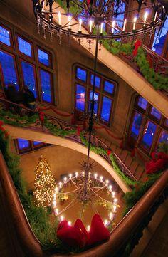 Biltmore House Staircase Christmas
