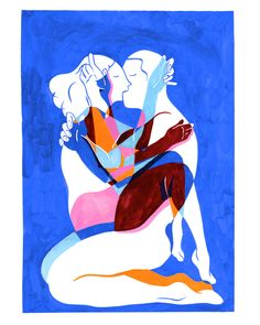 Love is blue - Illustrateur-Aquarelle|Kim Roselier