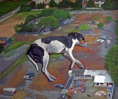"""Saatchi Online Artist Juan Caguana; Painting, """"sleeper"""" #art"""