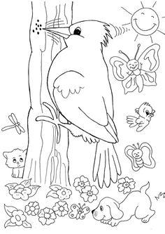 coloriage printemps colorier dessin imprimer