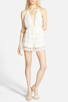 37 Lace Halter Romper by Missguided on @nordstrom_rack