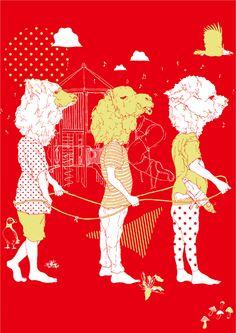 Japanese Illustration, Fun Illustration, Character Illustration, Graphic Design Layouts, Love Art, Art Inspo, Retro, Artsy, Weird And Wonderful