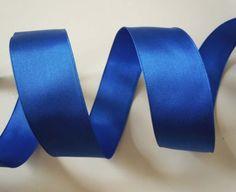 5yd-Cobalt-Blue-Satin-Wired-Ribbon-Wedding-Wreath-Pew-Bow-Scrapbook-Party-Decor