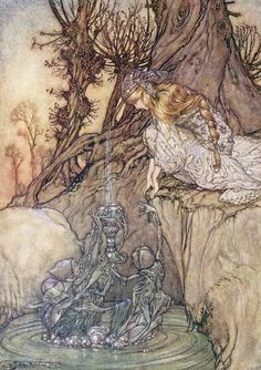 Arthur Rackham - The Enchanted Goblet, c. 1908