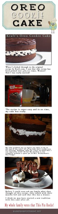 oreo cookie cake | Made From Pinterest | Food