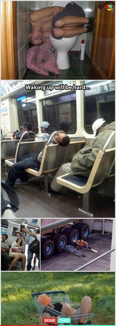 10+ Times People Found Sleeping In Funny and Weird Places