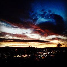 Coos Bay Oregon, summer dusk