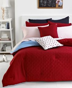 Tommy Hilfiger Bedding, Nantucket Red Hilfiger Prep Full/Queen Comforter Bedding from Macy's on Catalog Spree, my personal digital mall.