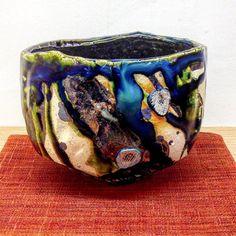 穂高隆児さん作織部茶盌穂高隆児個展Grand Bleu10日日まで #織部 #織部下北沢店 #陶器 #器 #ceramics #pottery #clay #craft #handmade #oribe #tableware #porcelain