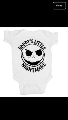 Nightmare before Christmas custom onesie! omg when I have a baby it will wear this all the time. No joke.