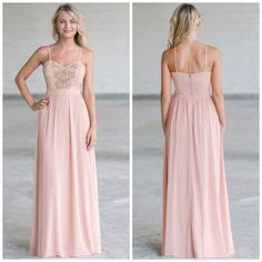 The metallic designs at the bust add the perfect touch to this pink maxi dress!  http://ss1.us/a/U0vApS0w
