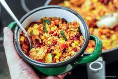 Chili con carne z ryzem i indykiem