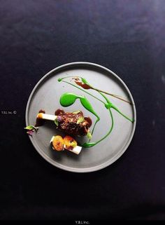 Mint Lamb #food #art #Artist #french #chef #cooking #painting #plating #color #topchef #michelin #taste #cuisine #gastronomie