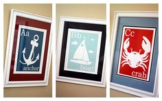 """Nautical ABC's - love these! Going to use """"Life's a Beach"""" cricut cartridge for them."""
