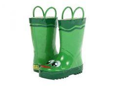 Western Chief Kids Frog Rainboot (Toddler/Little Kid/Big Kid) (Green) Boys Shoes