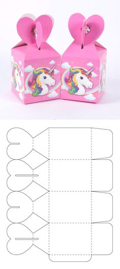 The best ideal box for your candy bar or to give candies at parties. Cool Paper Crafts, Paper Crafts Origami, Diy Crafts For Gifts, Foam Crafts, Diy Gift Box Template, Paper Box Template, Box Templates, Origami Templates, Box Patterns