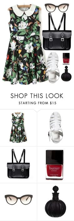 """""""Day at the Museum"""" by wildfawn ❤ liked on Polyvore featuring EDEN, The Cambridge Satchel Company, Butter London, Prada, Biba, dress, sandals and colorful"""