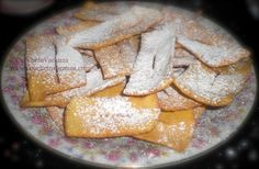 """The best recipe for Italian carnival fried dough! Named """"Cenci"""" here in Tuscany, this typical Carnival fried dough is delicious all year long. The recipe is from the most authoritative writer in tuscan recipes: Pellegrino Artusi. Buon Appetito!"""