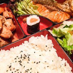 Chicken and Salmon Bento @ Eat Tokyo Soho (Japanese food)