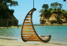 silla colgante exterior playa beach hanging chair decoración decoration miraquechulo