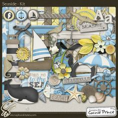 Seaside - Kit :: Full Kits :: Kits & Bits :: SCRAPBOOK-BYTES by Connie Prince