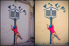 Pigeon House Street Art Mural at George Town