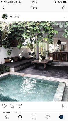 Easy And Simple Landscaping Ideas and Garden Designs, Drawing Cheap Pool landscaping ideas For Backy Small Backyard Design, Small Backyard Pools, Small Pools, Backyard Designs, Garden Design, Small Pool Ideas, Pool Decks, Patio Design, Front Yard Landscaping
