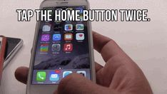 For small hands: tap the home button twice to make the top row of apps easier to reach with one hand.