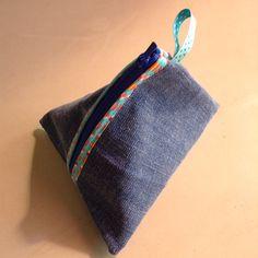 Berlingot jeans / denim triangle pouch