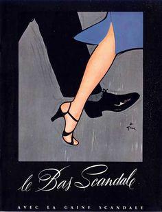 Rene Gruau,1952 - http://bellesdepub.free.fr/gruau_scandale_1952.htm