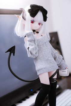 Sketch from Sony Loli Kawaii, Kawaii Doll, Kawaii Anime Girl, Beautiful Anime Girl, Beautiful Dolls, Anime Figurines, Smart Doll, Anime Dolls, Doll Repaint