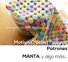 Todo crochet: Cómo tejer punto Yo Yo al Crochet / patrones y vid...